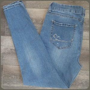 Seven7 Jeans   Legging   Paint Spattered   Size 14